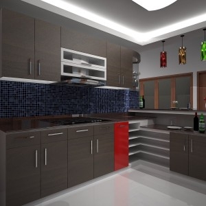 Desain kitchen set plus minibar